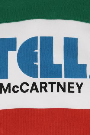 גילאי 2-14 סווטשירט קפוצ'ון לבן עם נגיעות צבע ססגוניות STELLA McCARTNEY KIDS