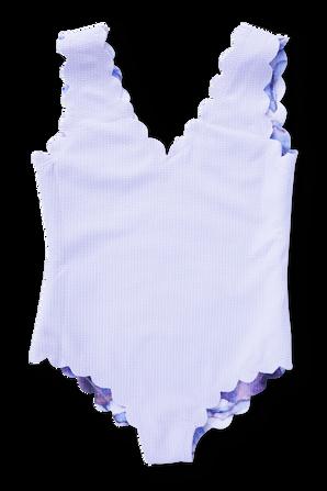 גילאי 1-12 בגדי ים שלם דו צדדי בהדפס שיש MARYSIA KIDS