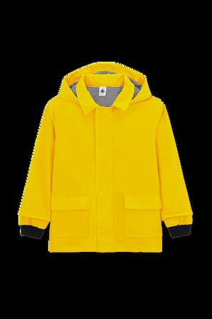 גילאי 6-12 מעיל גשם צהוב PETIT BATEAU