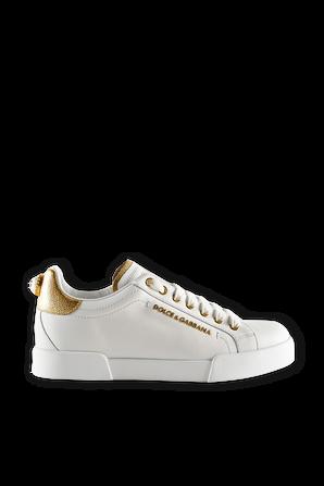 Portofino Sneakers in White with Lettering DOLCE & GABBANA