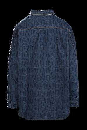 אדידס X אייבי פארק חולצת כפתורים אוברסייז בגוון כחול כהה ADIDAS ORIGINALS