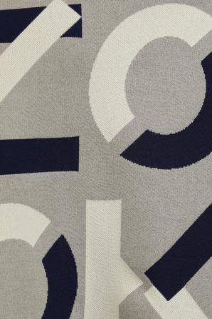 Jacquard Monogram Jumper in Dove Grey KENZO