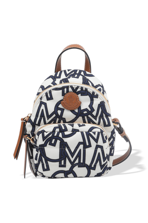 Small Kilia Backpack in White and Blue MONCLER