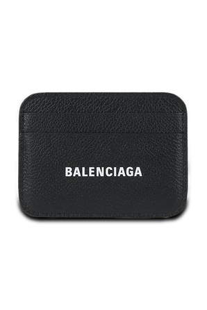 Cash Card Holder in Black Grained Leather BALENCIAGA