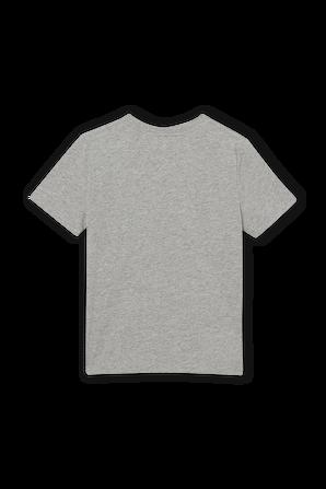 גילאי 3-14 חולצת טי באפור עם לוגו לבן BURBERRY