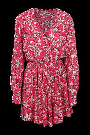 שמלת מיני פרחונית בצבע ורוד ISABEL MARANT