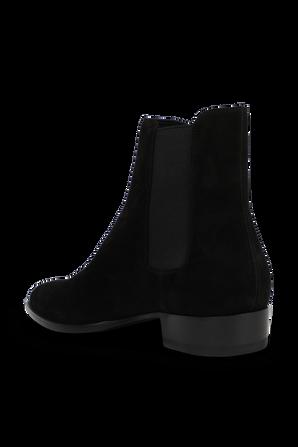 Wyatt Chelsea Boost in Black Suede Leather SAINT LAURENT