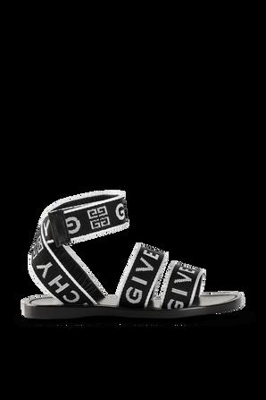 מידות 28-33 סנדלי רצועות עם לוגו GIVENCHY KIDS