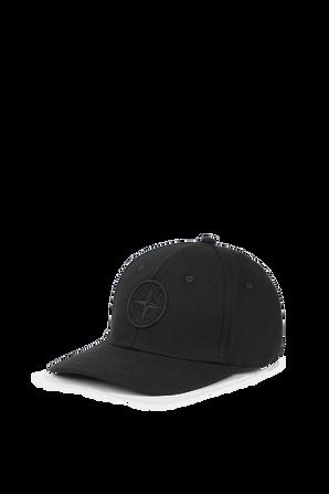 כובע מצחייה עם לוגו בצבע שחור STONE ISLAND KIDS