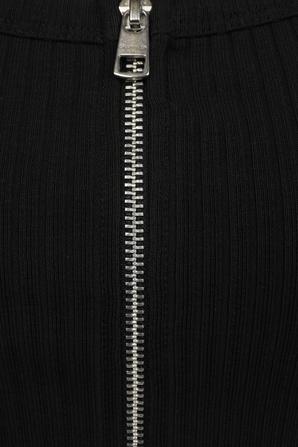Zip Up Cropped Top in Black CALVIN KLEIN