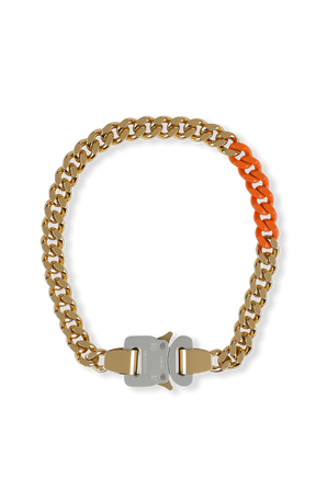 Metal and Nylon Chain Necklace in Gold ALYX