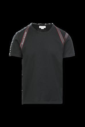 Red Stripes Shirt in Black ALEXANDER MCQUEEN