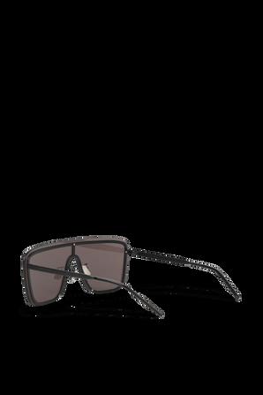 364 Mask Sunglasses in Black SAINT LAURENT