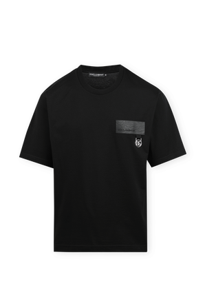 T-Shirt With DG Patch in Black DOLCE & GABBANA