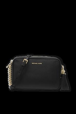 MD Ginny Leather Crossbody Bag in Black MICHAEL KORS