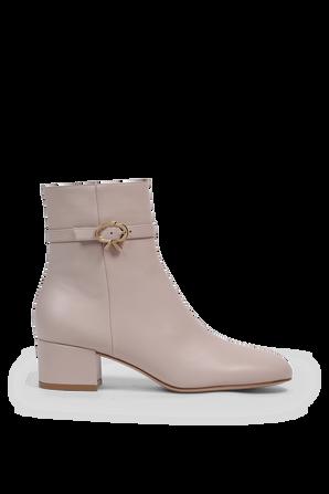Ribbon Boots in Grey  GIANVITO ROSSI