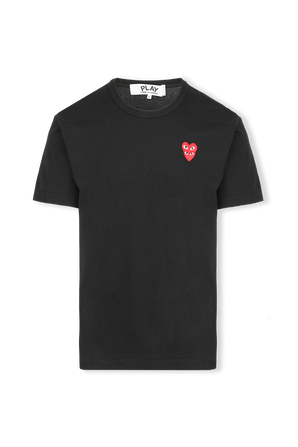 Double Small Hearts T-Shirt in Black COMME des GARCONS