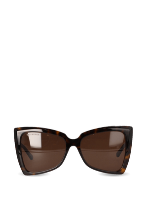 Tip Butterfly Sunglasses in Brown BALENCIAGA