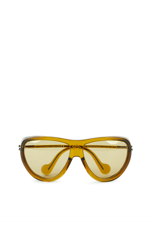 Aviator Shape With Sporty Style Sunglasses in Brown MONCLER