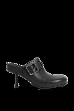 נעלי עקב מעור בצבע שחור BALENCIAGA