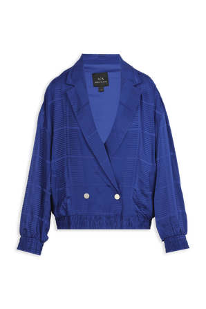 Double Breasted  Viscose Jacket In Blue ARMANI EXCHANGE