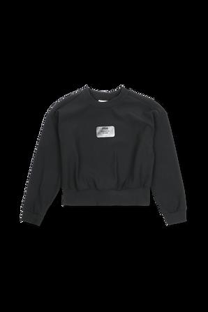 גילאי 6-16 סווטשרט צווארון עגול עם לוגו בצבע שחור FILA