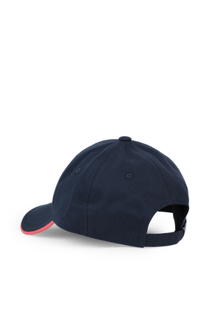 Logo-Print Cap With Contrast Accents in Blue BOSS