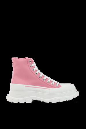 Tread Slick Boots in Pink ALEXANDER MCQUEEN