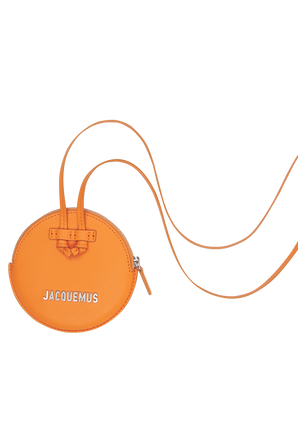 Le Pitchou Mini Leather Bag in Orange JACQUEMUS