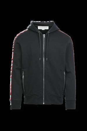 McQueen Stripes Sweatshirt in Black ALEXANDER MCQUEEN