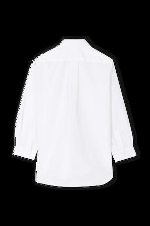 גילאי 2-6 חולצת כפתורים עם לוגו לב באדום COMME des GARCONS KIDS