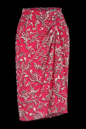 חצאית מידי פרחונית בצב ורוד ISABEL MARANT