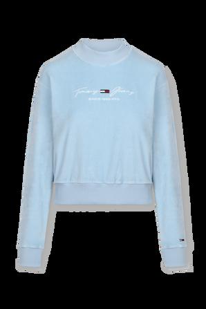 Tjw Velour Sweatshirt in Pastel Blue TOMMY HILFIGER