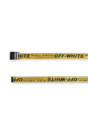 Classic Industrial Belt in Yellow OFF WHITE
