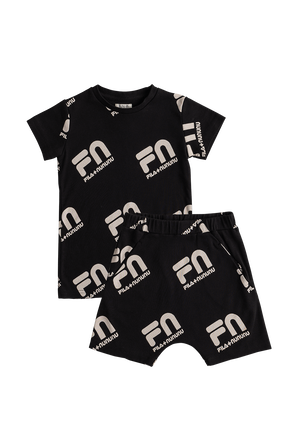 Fila x Nununu Ages 6-14 Loungewear Set in Black FILA NUNUNU
