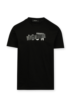 Chest Icon T-Shirt in Black DSQUARED2