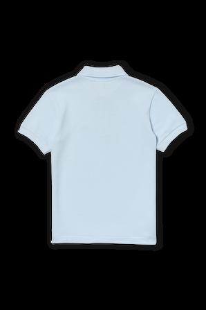 גילאי 2-12 חולצת פולו בתכלת עם פאץ' לוגו LACOSTE KIDS