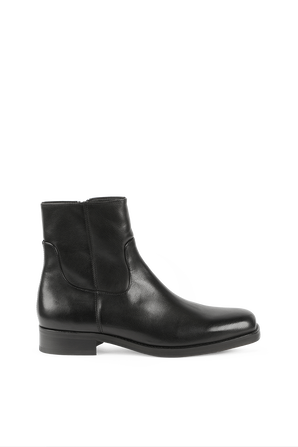Leather Ankle Boots in Black HUGO