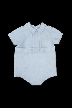 גילאי 6-24 חודשים אוברול קצר בכחול בהיר FENDI KIDS