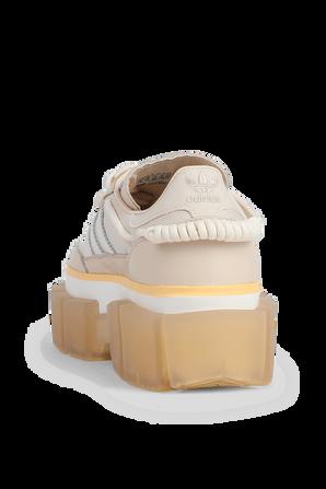 Ivy Park x Adidas Super Sleek Sneakers in Beige and Orange ADIDAS ORIGINALS