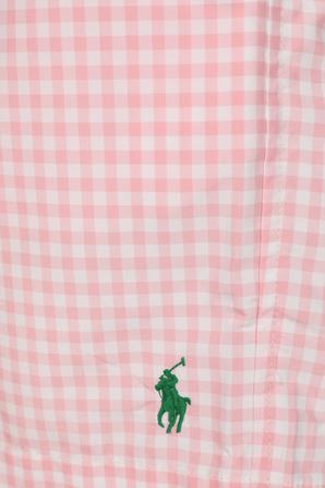 Plaid Swim Trunk in Pink and White POLO RALPH LAUREN