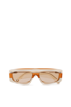 Les Lunettes Yauco in Orange and Nude JACQUEMUS