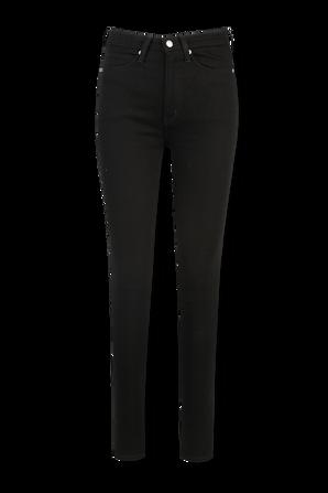 High Rise Skinny Jeans in Black CALVIN KLEIN