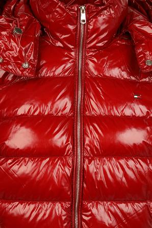 מעיל פאפר מבריק בצבע אדום TOMMY HILFIGER