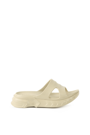 Marshmallow Rubber Slides in Beige GIVENCHY