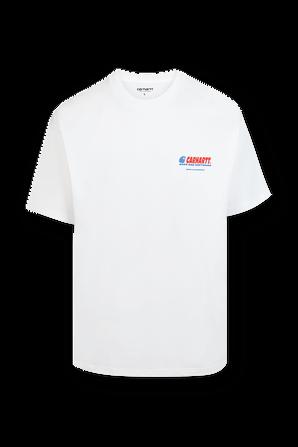 חולצה טי עם לוגו בגב בצבע לבן CARHARTT WIP