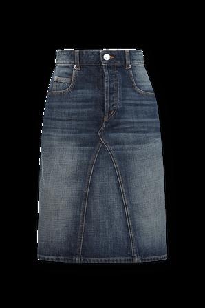 Denim Midi Skirt in Dark Wash ISABEL MARANT