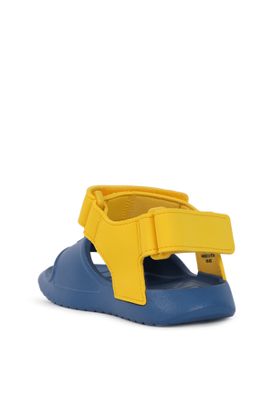 מידות 28-34.5 סנדלי גומי בכחול צהוב PUMA KIDS
