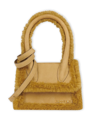 Le Chiquito Moyen Shearling-lined Tote In Brown JACQUEMUS