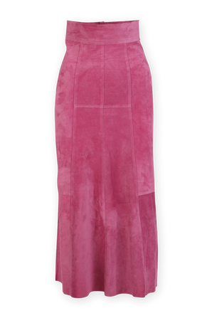 Midi Leather Skirt in Pink ISABEL MARANT